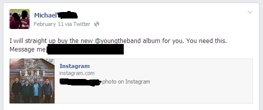 Young the Band fan offers to buy their album for other fans