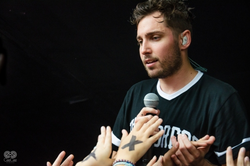Josh Franceschi of You Me At Six at the Red 7 in Austin by CeeCee Hood